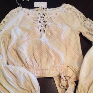 rARE Free People boho blouse
